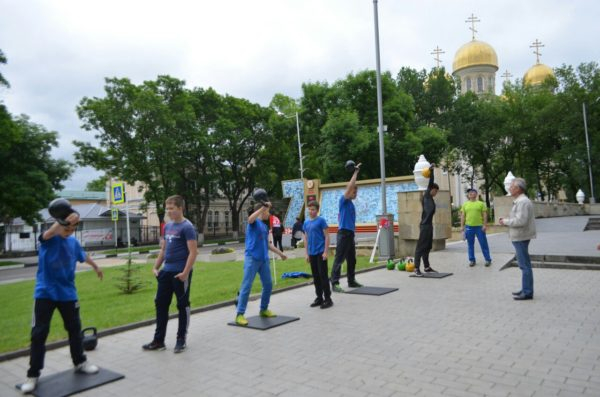 Спортивный праздник в городе Кисловодске, посвященный Дню России.