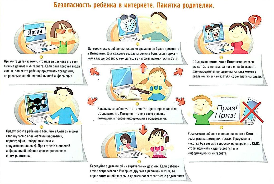 Безопасность ребекна в Интернете. Памятка родителям